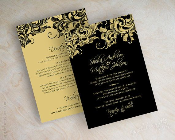 Gold Wedding Invitation Paper Gold 2083584 Weddbook