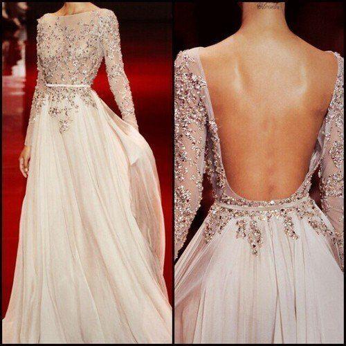 Вечерние платья на свадьбу с открытой спиной