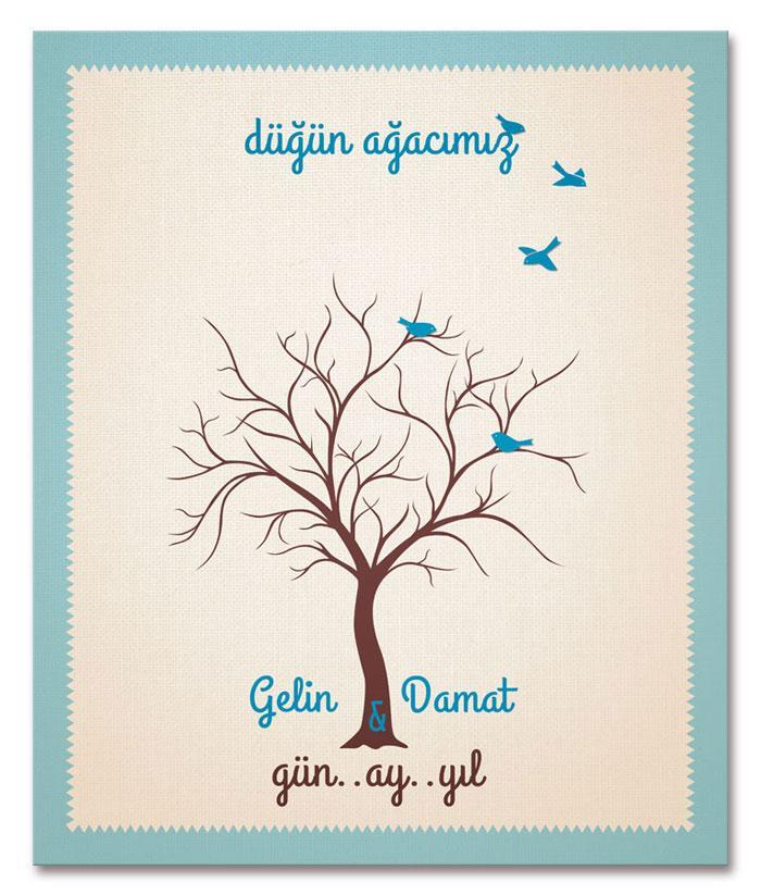 Hochzeit - Düğün Ağacı - Düğün Parmak İzi Ağacı