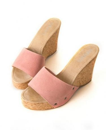 Hochzeit - Fashion Style Water Proof Thick Heels Sandals Rose Rose SP0082