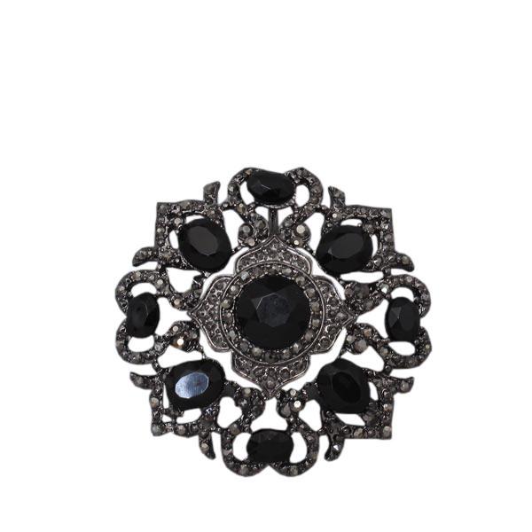 Свадьба - vintage hematite brooch