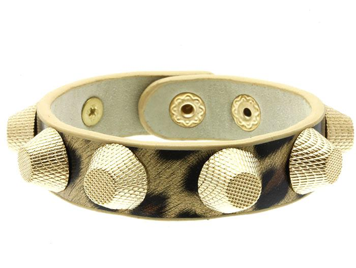 زفاف - cheetah studded cuff