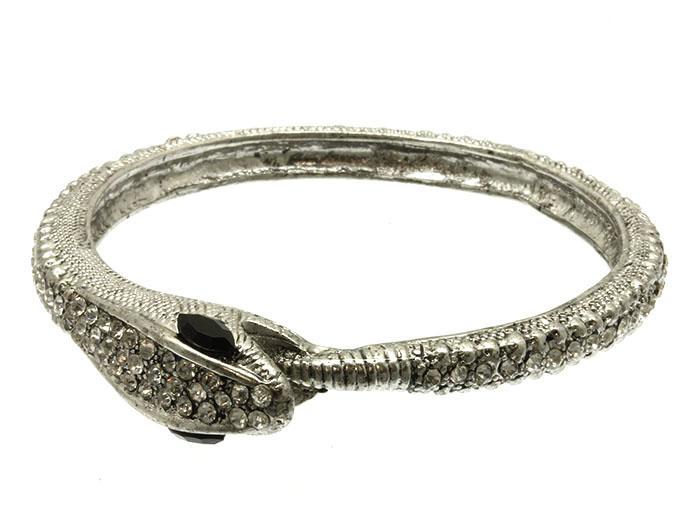 Свадьба - pave hematite python cuff
