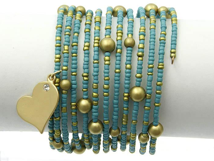 Свадьба - turquoise wrapped heart cuff