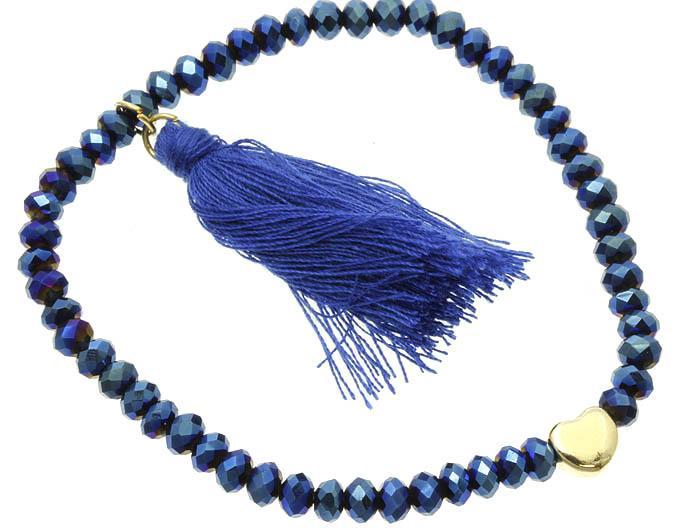 Свадьба - cobalt heart bracelet