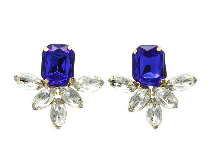 Mariage - sapphire sparkle earrings