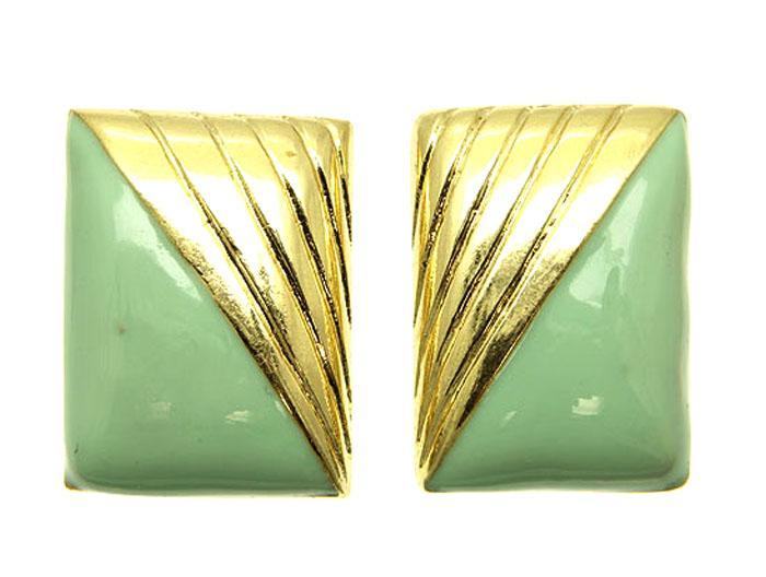 Mariage - mint & retro earrings