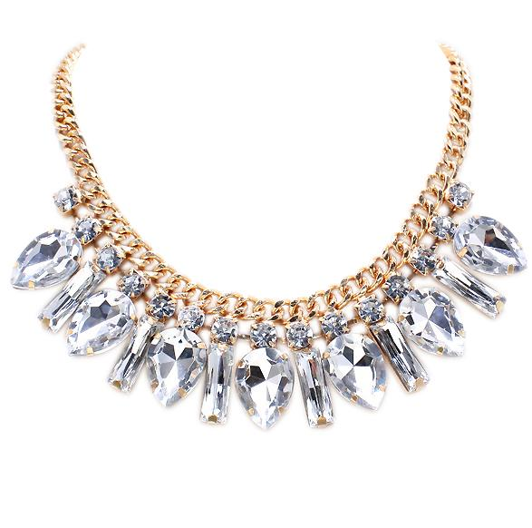 زفاف - Glam Crystal Necklace