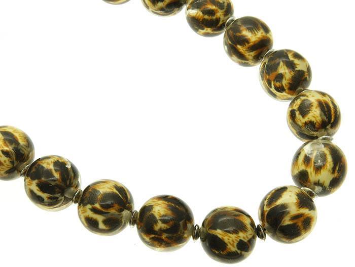 Mariage - leopard & lucite necklace