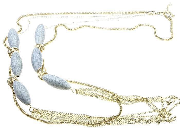 Mariage - alba stone necklace