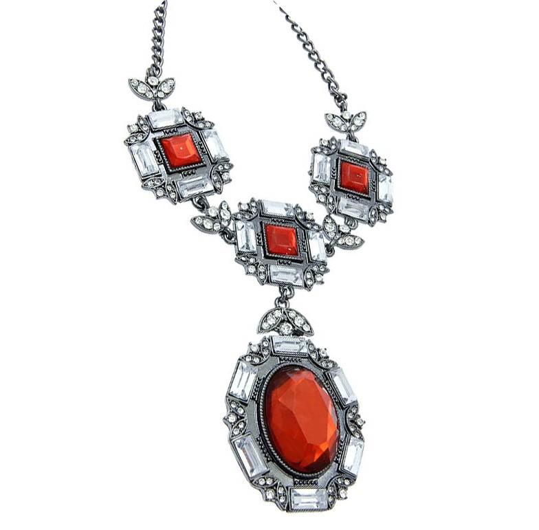 Mariage - poppy red necklace