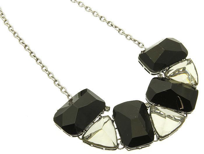 Свадьба - black/white lucite necklace