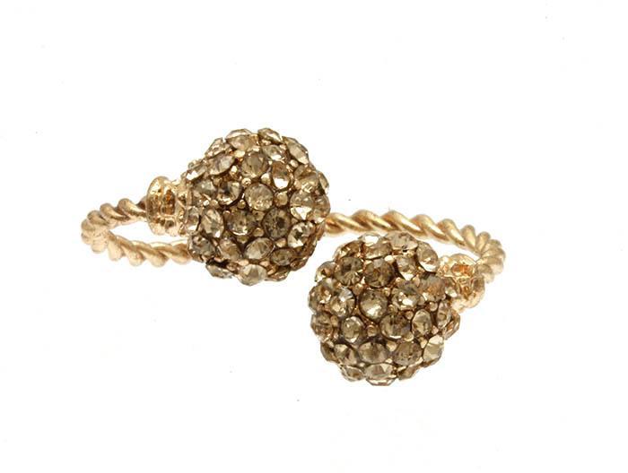 زفاف - rose gold and pave ring