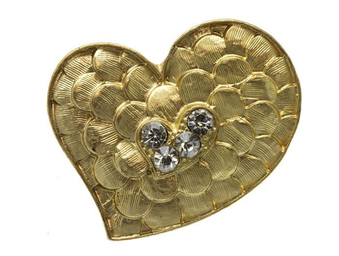 زفاف - hammered heart ring