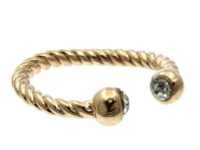 Mariage - roped rose gold ring