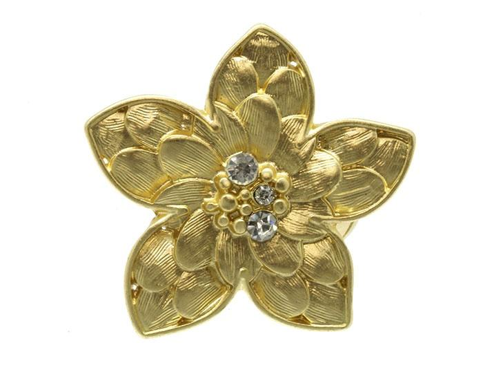 Wedding - gilded fleur ring