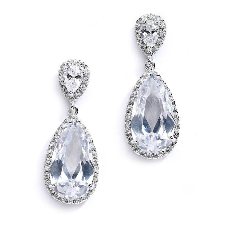 Mariage - Pear Drop Earrings