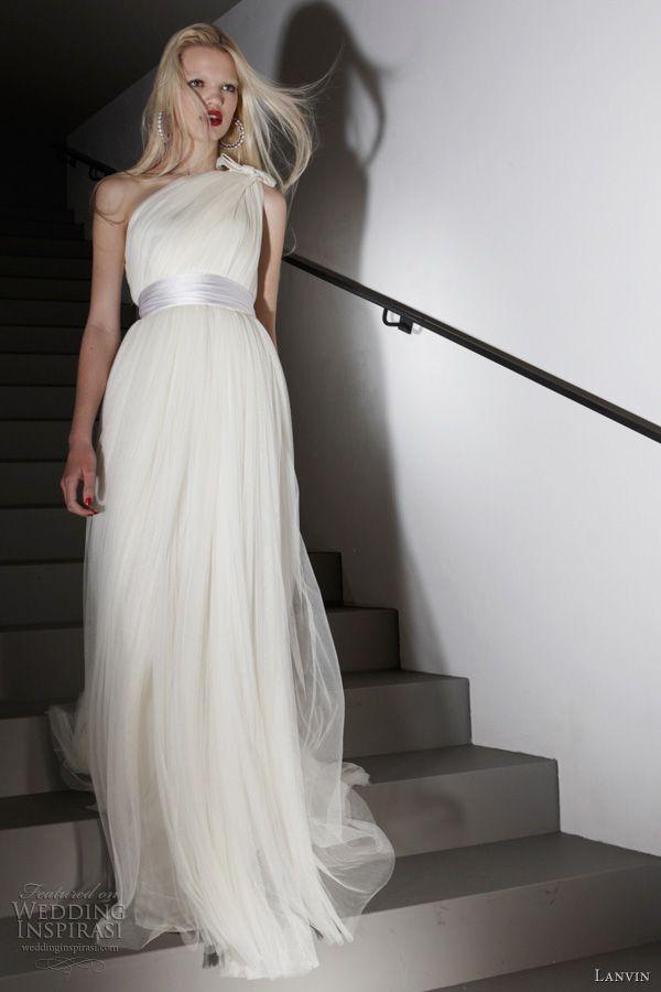 Свадьба - Одна Бретелька Свадебное Платье Вдохновение
