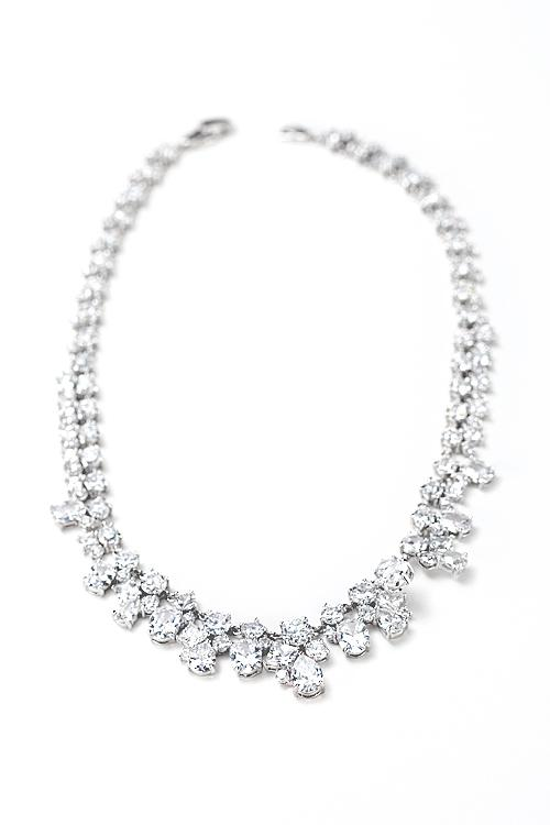 Wedding - Multi shaped cz necklace