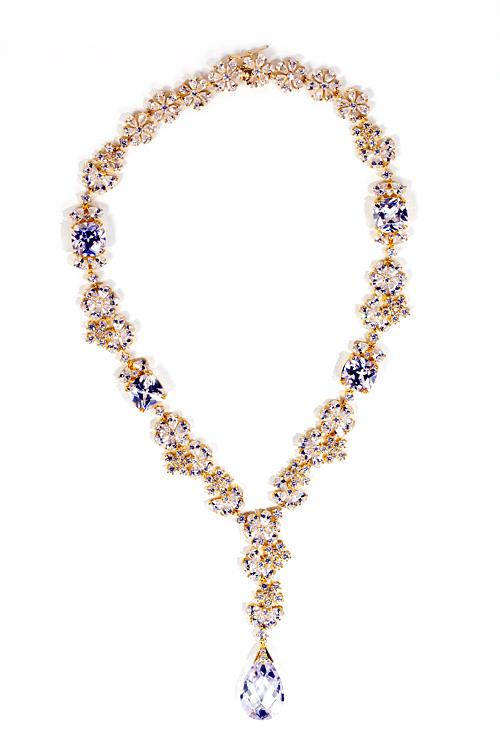 Wedding - 18K gold tone floral necklace