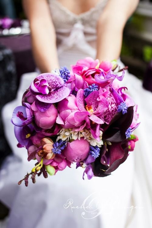 Bridal Bouquets 2014 Bridal Bouquet Deep Tones