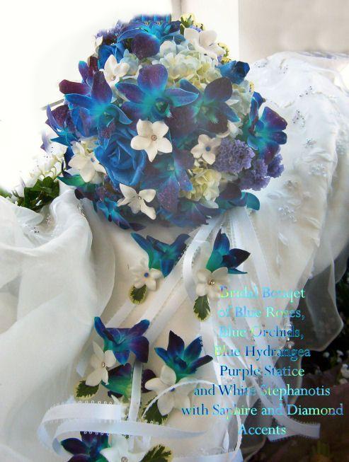 Hochzeit - Brautsträuße Blau