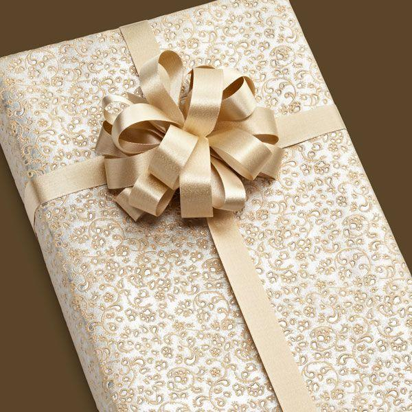 Wedding Gift Wrapping Ideas Pinterest : ... de regalos embossed silver brocade gift wrap USD 10 99 wrapping # envase