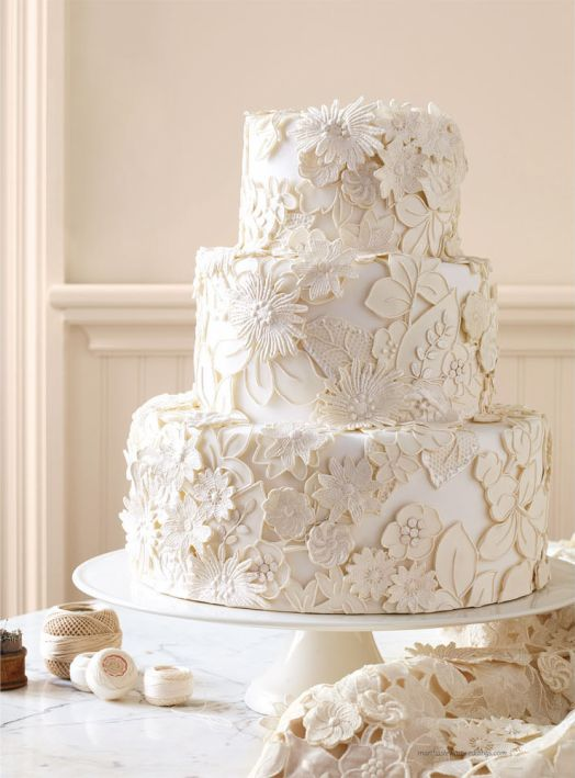 Un gâteau de mariage tout blanc, oui ou non ? 8