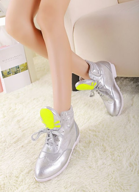 Wedding - Casual Style Thick Heels Sneaker Shoes Pink Pink SK0018