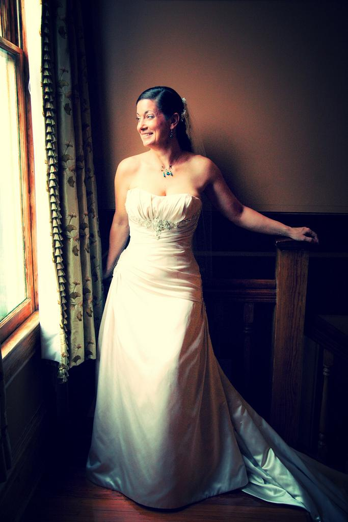 Wedding - Rich-King Wedding 2011', Jody's Bridal Gown, Train And Smile