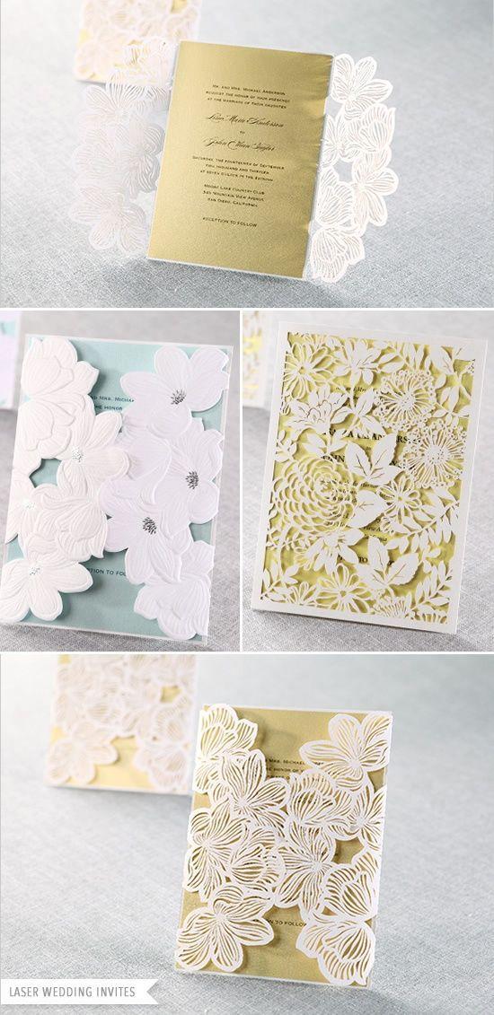 Hochzeit - Einladung Papier Gold