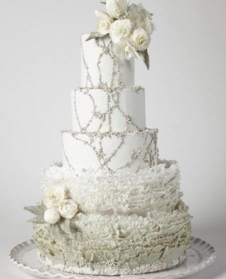 Gold Wedding White Gold Wedding Cakes 2091467 Weddbook
