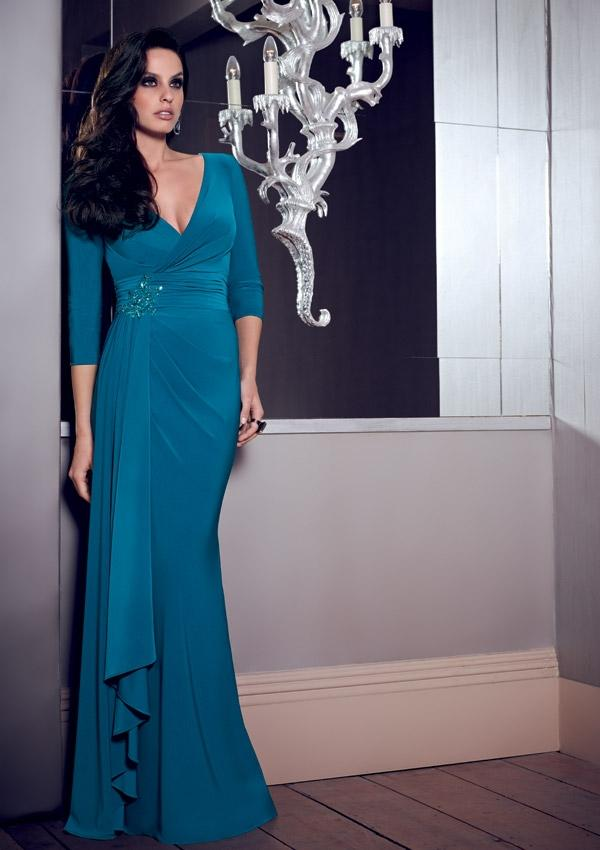 Wedding - Draped Chiffon Gown Mother Of The Bride Dresses(HM0696)