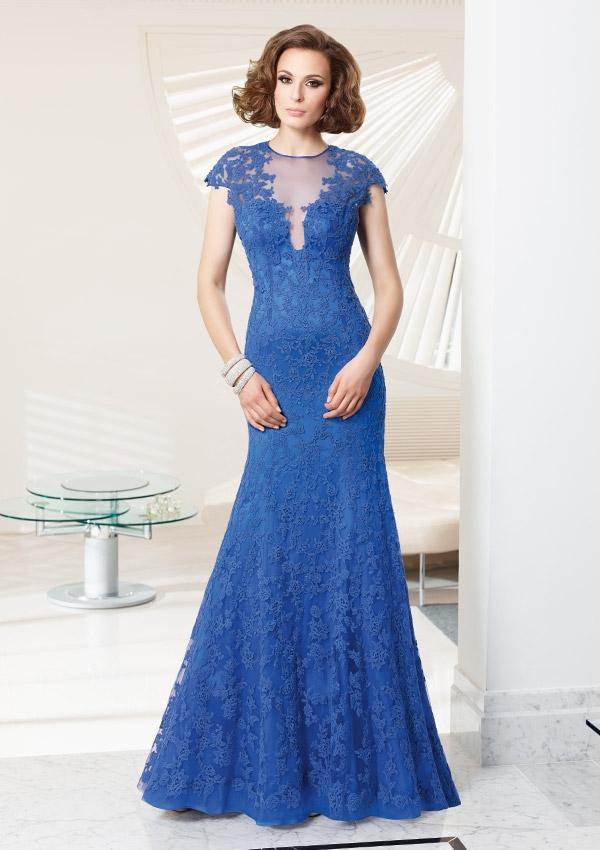 Hochzeit - Lace Over Satin Dress Mother Of The Bride Dresses(HM0683)