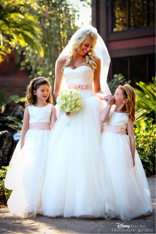 Flower girl slaps bride flower for Matching wedding and flower girl dresses
