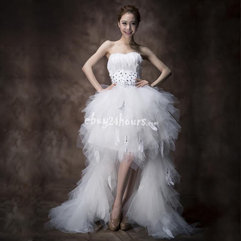 X Small Wedding Dresses : Wedding sweet princess strapless small tail ball gown dress