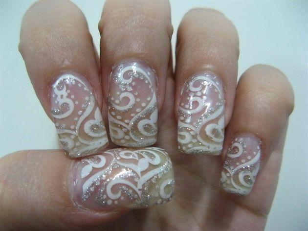 Mariage - Nuptiale Wedding Nail Art