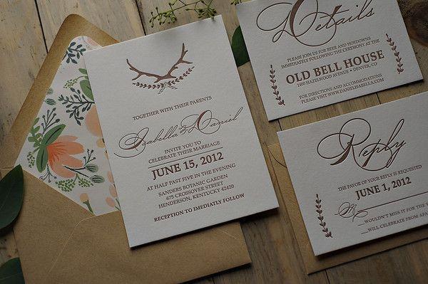Hochzeit - WOHNEN & SAVE THE DATE