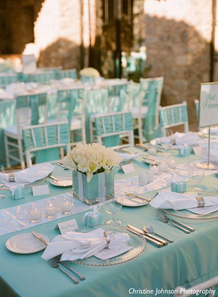 Aquamarine beach house wedding