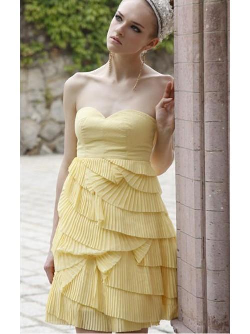 Wedding - Daffodil A-line Short Sweetheart Dress