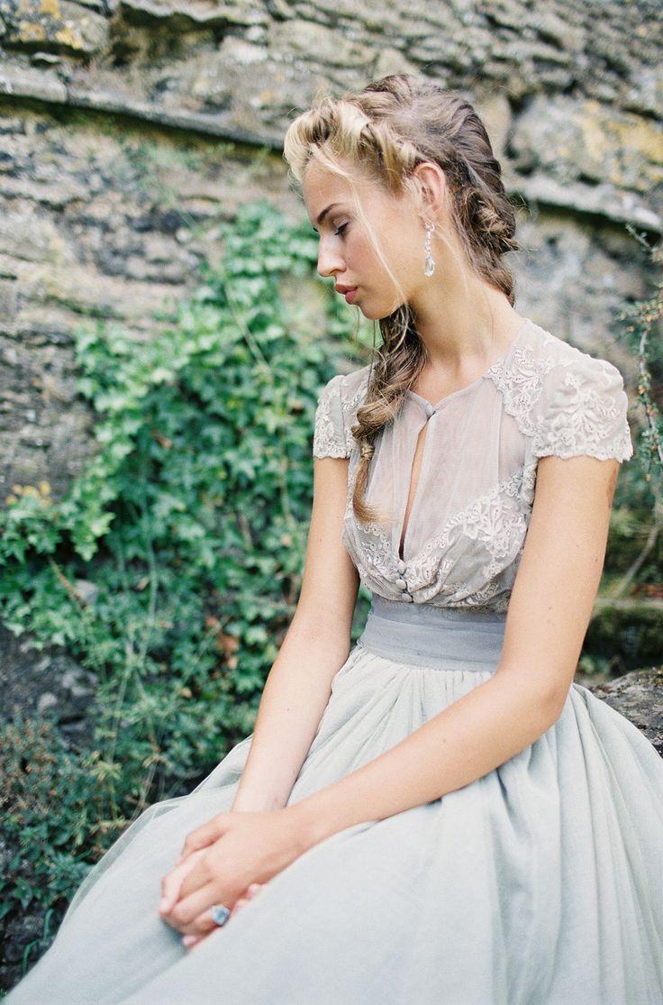 زفاف - بأكمام قصيرة / كاب يكمم / إيقاف الالهام الأكمام الكتف ثوب الزفاف