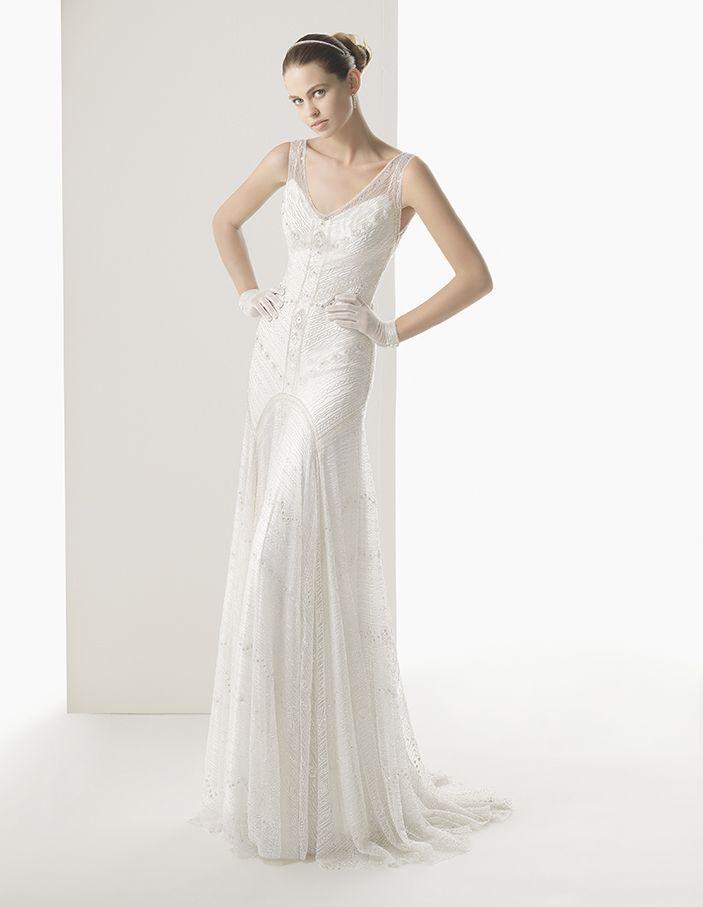 زفاف - بلا أكمام ثوب الزفاف الإلهام