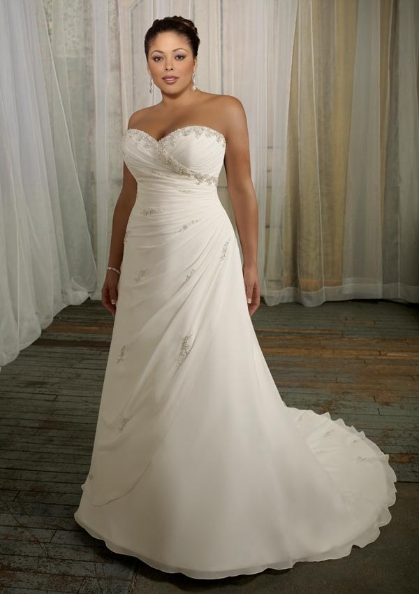 Wedding - Delicate Chiffon With Beading Wedding Dresses(HM0235)