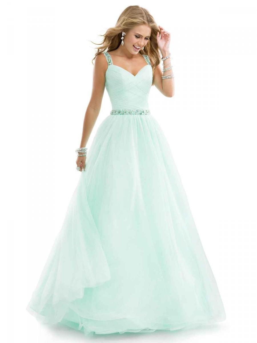 Wedding - mint prom dress
