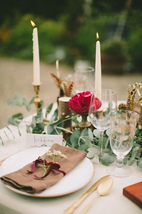 زفاف - حديقة Tablescapes
