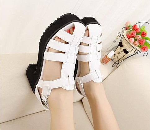 Hochzeit - Sweet Style Fish Mouth Sandals Shoes Red Red SD0370