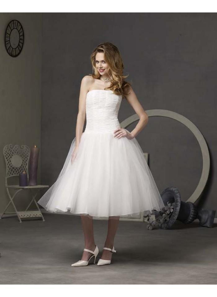 Knee Length Empire Wedding Dresses