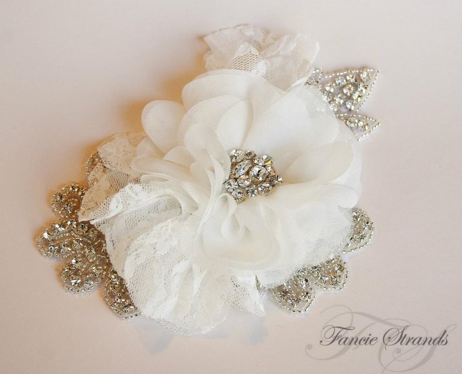 Wedding - Ivory Rhinestone Wedding Headpiece