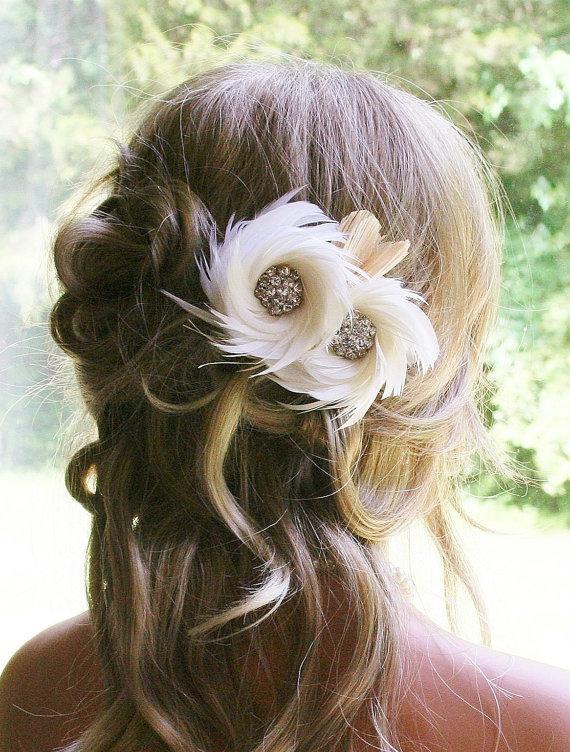 Wedding - Wedding Bridal Fascinator Headpiece via Etsy