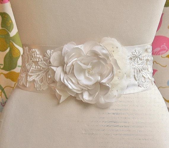 Wedding Bridal Sash Belt Via Etsy